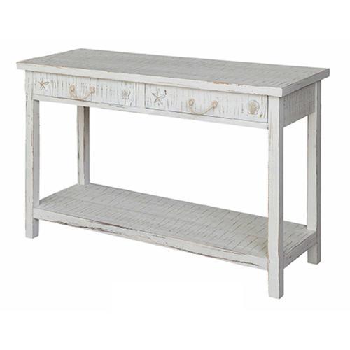 Product Image - Seaside White Coastal Console Table