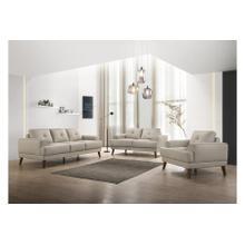 See Details - Anzio Cream Leather Sofa, Loveseat & Chair, L7120