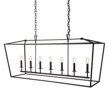 Cage Linear Chandelier - Bronze