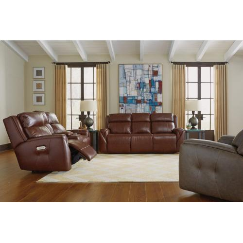 Product Image - Zara Leather Power Reclining Loveseat with Console and Power Headrests