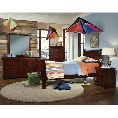 Standard Furniture - Lewiston Drawer Chest, Dark Cherry Brown