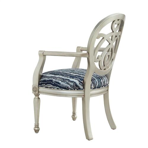 Upholstered Seat and With Arms Accent Chair, Gold