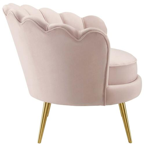 Admire Accent Armchair Performance Velvet Set of 2 in Pink