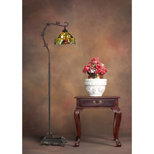 60W Cotulla Downbrdige Tiffany Metal Floor Lamp