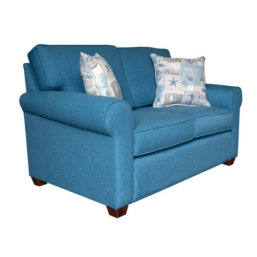 """Capris Furniture - Loveseat, 2-1/2"""" Pyramid legs available in Caramel, Black Cherry, Frost, Driftwood or Walnut"""
