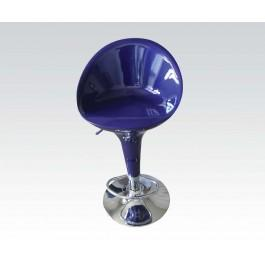 Bl/chrome Swivel Adj. Stool @n