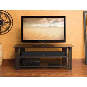 """Sanus - Gunmetal Audio Video Stand Tempered-glass shelves - fits AV components and TVs up to 65"""""""