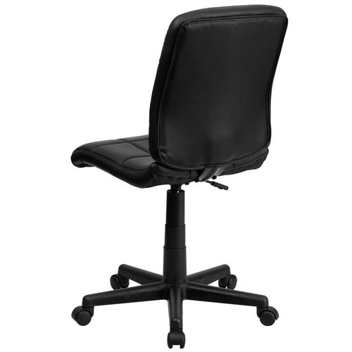 Gallery - Mid-Back Black Quilted Vinyl Swivel Task Office Chair