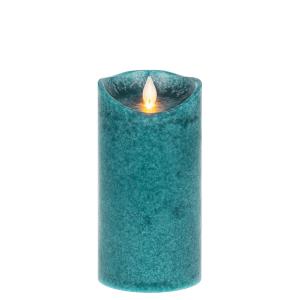 Wax LED Mottled Pillar