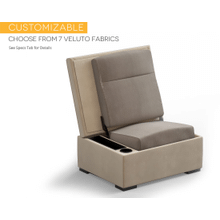 JumpSeat Ottoman, Veluto Fabric