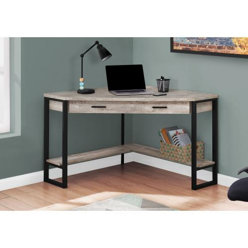 """Gallery - COMPUTER DESK - 42""""L / TAUPE RECLAIMED WOOD CORNER"""