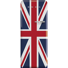 '50s Style fridge with ice compartment, Union Jack, Left-hand hinge, 24'' in-width