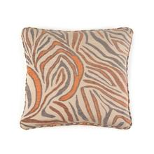 Toss Pillow with an Orange Animal Print