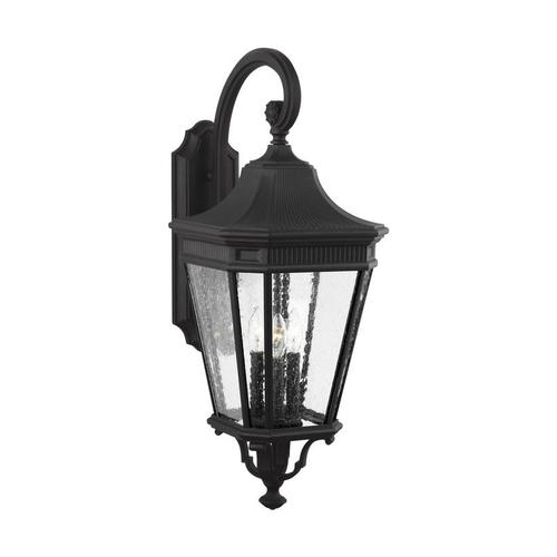 Cotswold Lane Large Lantern Black