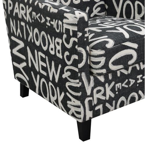Emerald Home Janelle U3671-05-06a Accent Chair - Nyc Pavement
