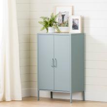 Crea - Metal 2-Door Accent Cabinet, Blue