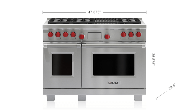 "WolfLegacy Model - 48"" Dual Fuel Range - 6 Burners And Infrared Charbroiler"