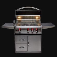 See Details - Blaze Professional LUX 34-Inch 3 Burner Built-In Gas Grill With Rear Infrared Burner, With Fuel type - Propane
