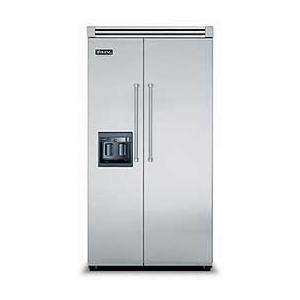 "Viking - 42"" Side-by-Side Refrigerator/Freezer with Dispenser - VISB (Integrated Installation)"