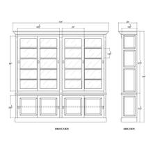 Hudson 99'' Bookcase w/ Sliding Doors