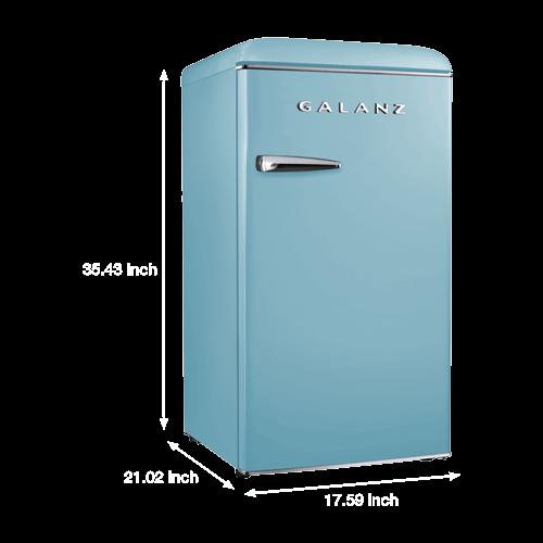 Galanz 3.3 Cu Ft Retro Single Door Refrigerator in Bebop Blue