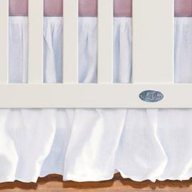 Jasmine Linen Crib Skirt