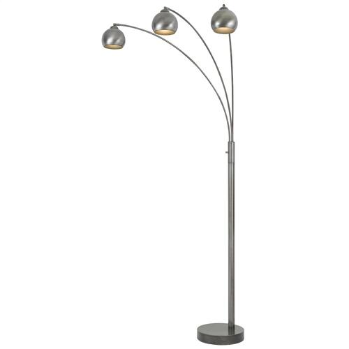 60W X 3 Light Metal Arc Floor Lamp