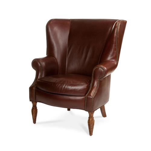 All Leather Wing Chair