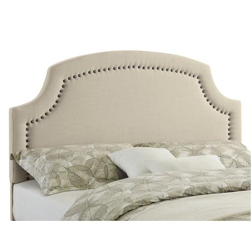 Upholstered Full/queen Headboard, Natural