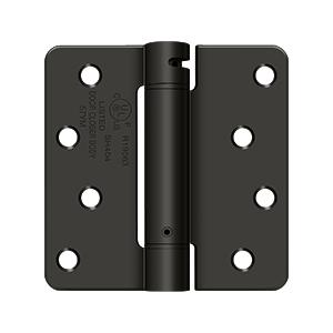 """4"""" x 4"""" x 1/4"""" Spring Hinge, UL Listed - Oil-rubbed Bronze"""