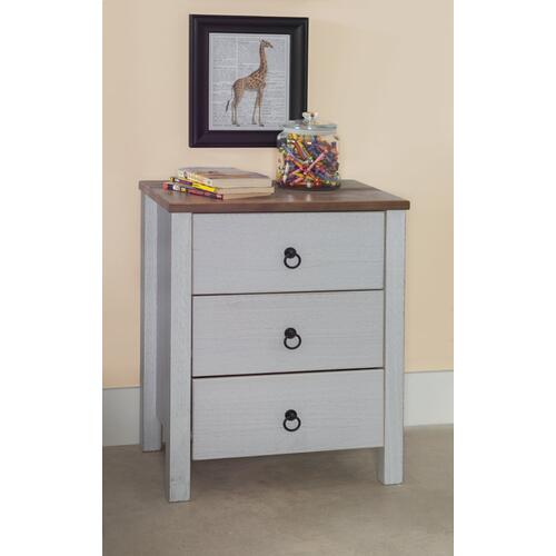 Rustic Two Tone Chest 3 Drawers