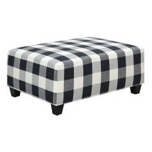 Darcey Ottoman Black/white Buffalo Check