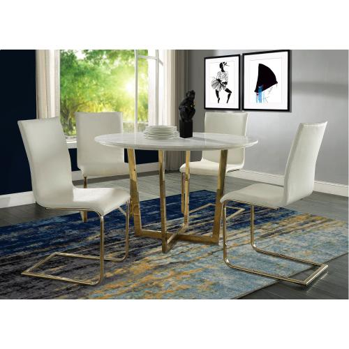 Tov Furniture - Maxim White Marble Dining Table