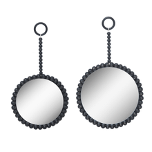 See Details - Black Beaded Wall Mirror (2 pc. set)