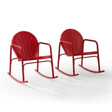 GRIFFITH 2PC OUTDOOR ROCKING CHAIR SET