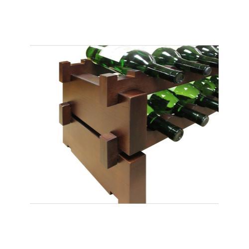 2 x 9 Bottle Modular Wine Rack (Stained)