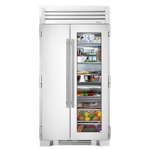 True Residential42 Inch Stainless Glass Door Side-by-Side