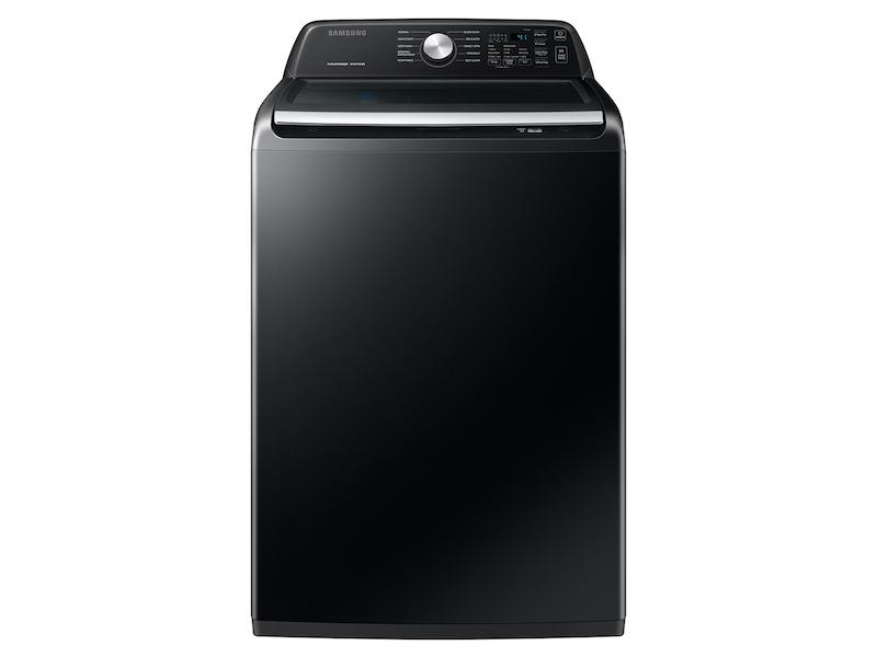 Samsung4.4 Cu. Ft. Top Load Washer With Activewave™ Agitator And Active Waterjet In Brushed Black