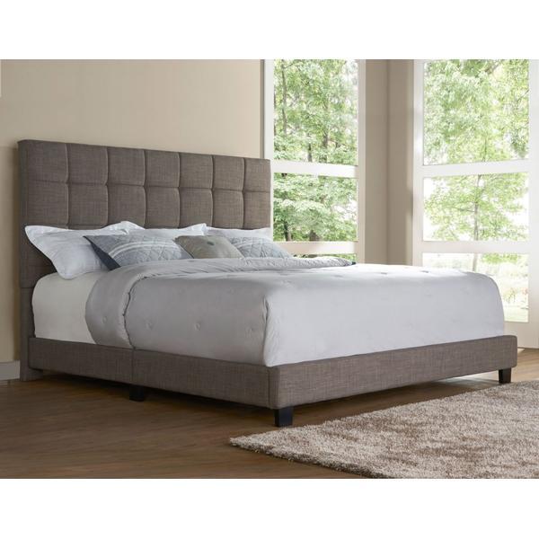 Brooklyn King Bed, Nickel