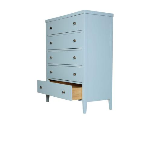 5 Drawer Chest-pastel Blue