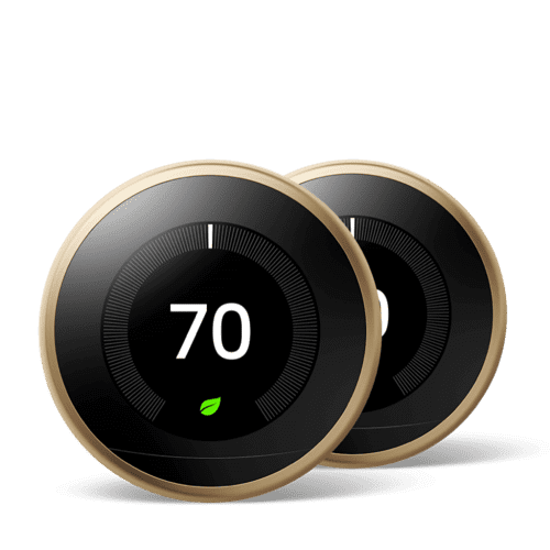 Nest Learning Thermostat 3rd Gen Brass 2 Pack