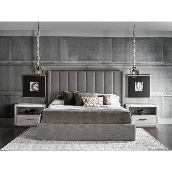 See Details - Upholstered Shelter Queen Bed