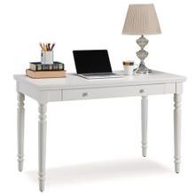 See Details - Cottage White Turned leg Laptop Desk with Center Drawer #85410