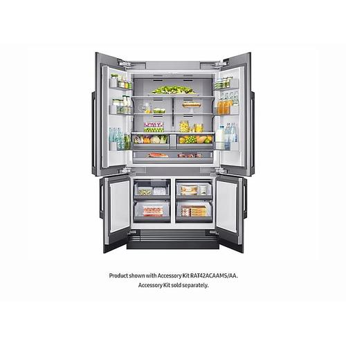 "24 cu ft. Capacity 4-Door French Door Panel Ready 42"" Built-In Chef Collection Refrigerator"