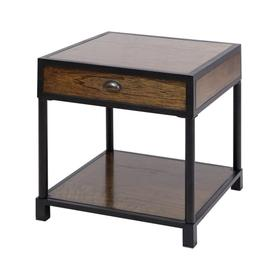 Pendleton Side Table In Antique Brown