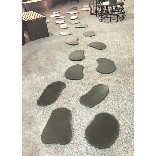 Renava Ouray Outdoor Grey Concrete Stepping Stones (Set of 6)