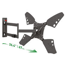View Product - 3400LLong 4 Movement - Full Motion, Flat/ Curved TV Wall Mount - Rotate, Fold, Swivel & Tilt TV Wall mount, barkan , tv mount