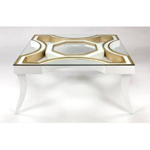"""Artmax - Coffee Table with Glass 43x43x18.5"""""""