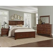 Bungalow  Bedroom Group in Cherry Finish   (742-***)