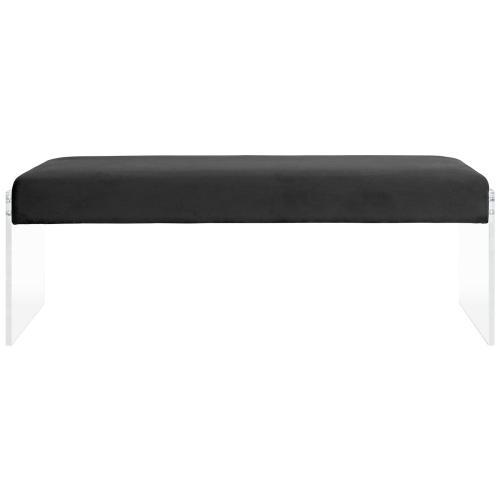 Roam Performance Velvet Bench in Black